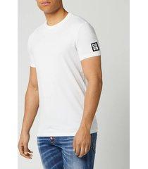 dsquared2 men's square arm patch t-shirt - white - xl
