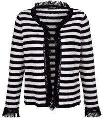 kofta med fransar amy vermont svart::vit