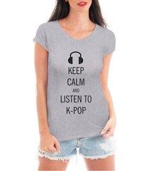blusa criativa urbana keep calm kpop t shirt