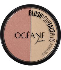 blush bicolor océane femme blush your face peach white pink 9,3g