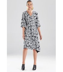 natori leaves of paradise wrap robe dress, women's, size 2 natori