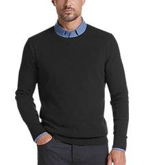 joe joseph abboud black slim fit crew neck sweater