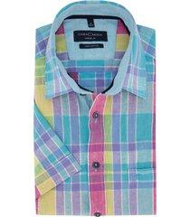 casa moda overhemd korte mouwen geruit