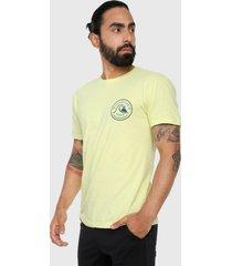 camiseta amarillo-azul-negro quiksilver call m tess