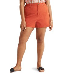 women's madewell camp shorts, size medium - orange