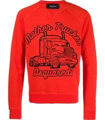 dsquared2 mother trucker graphic sweatshirt