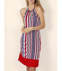 korte jurk admas mouwloze zomerjurk elegant stripes rood adma's
