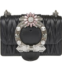 miu miu embellished ring quilted shoulder bag