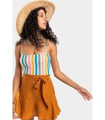 nadeen button front skirt - rust