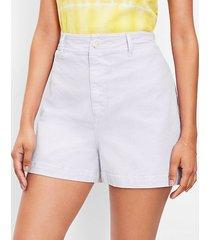 loft curvy welt pocket denim shorts