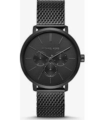 orologio blake oversize nero con cinturino in maglie