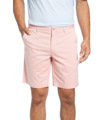 men's peter millar crown comfort chino shorts, size 35 - red