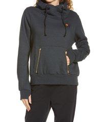 women's aviator nation ninja hoodie, size xxl - grey