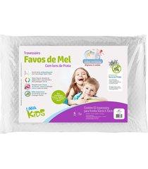 travesseiro fibrasca favos de mel kids brancopara fronhas 50x70cm