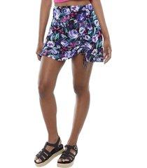 falda mini morado flores mujer corona