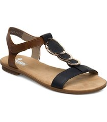 64278-00 shoes summer shoes flat sandals svart rieker