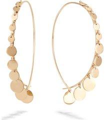 women's lana jewelry dangling disc upside down earrings
