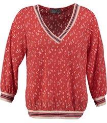 amélie & amélie polyester blouse 3/4 mouw met sweater boorden