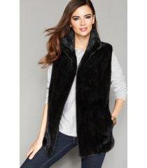 the fur vault stand-collar mink fur vest