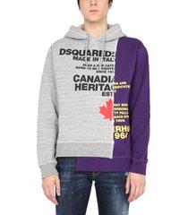 dsquared2 bi-chrome sweatshirt