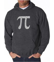 la pop art men's word art hooded sweatshirt - 100 digits of pi
