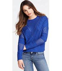ażutowy sweter