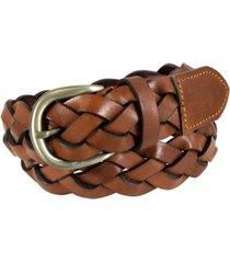 florsheim arlen large weave leather casual belt