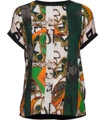 t-shirt short-sleeve blouses short-sleeved multi/mönstrad gerry weber edition