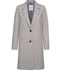 coats woven wollen jas lange jas grijs esprit casual