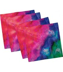 "ambesonne tie dye set of 4 napkins, 12"" x 12"""