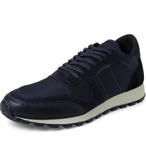 canvas blauman sneakers // blue  black