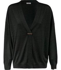 brunello cucinelli long v-neck cardigan