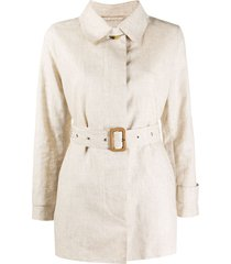 mackintosh belted short trench coat - neutrals