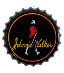 placa tampa de garrafa decorativa 35 cm johnnie walker