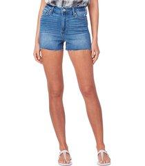 women's paige margot high waist cutoff denim shorts, size 28 - blue