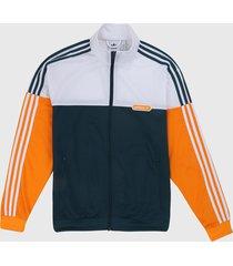 chaqueta verde-naranja-blanco adidas originals firebrid split