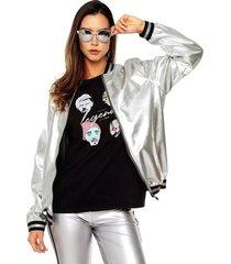 chaqueta silver rosé pistol unisex
