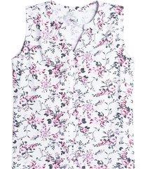 camiseta mujer flores color blanco, talla 10