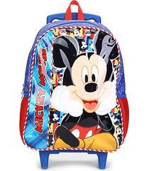 mochila escolar infantil pacicf mickey disney selfie com rodinhas - masculino