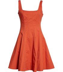 women's staud mini wells fit & flare dress, size 12 - red
