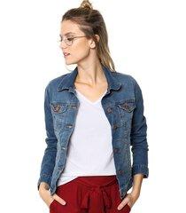 campera celeste riffle jeans