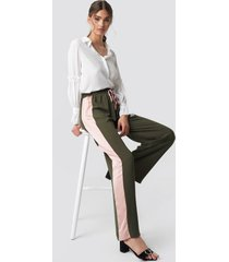 glamorous wide striped pants - green