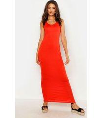 tall basic maxi dress, orange