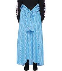 striped waist tie detail maxi skirt