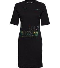 love moschino dress knälång klänning svart love moschino
