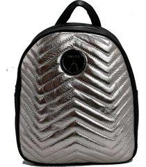 mochila plata buda metalizada