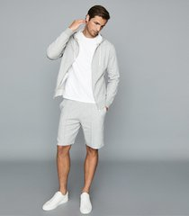 reiss berry - jersey shorts with seam detailing in grey, mens, size xxl