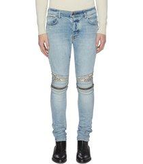 'mx2' bandana knee zip jeans