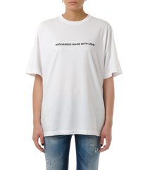 dsquared2 white made with love cotton t-shirt