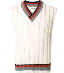 coohem good summer knitted vest - white